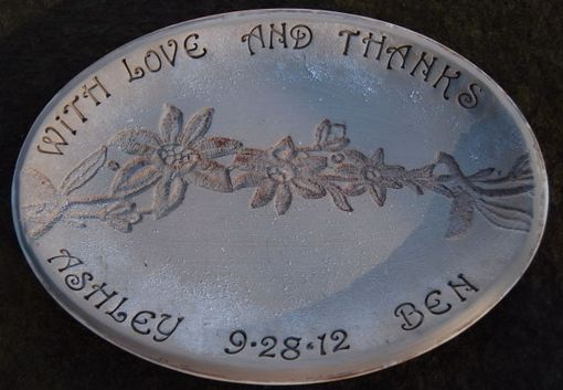 Custom Made Parents Wedding Thank You Anniversary Gift Custom Engraved Ceramic Pottery Tray