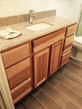 Custom Made Bathroom Vanity And Cabinet