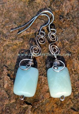 Custom Made Amazonite And Sterling Silver Necklace And Earrings