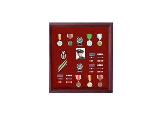 Custom Made Military Medal Case, Shadow Box Photo Holder