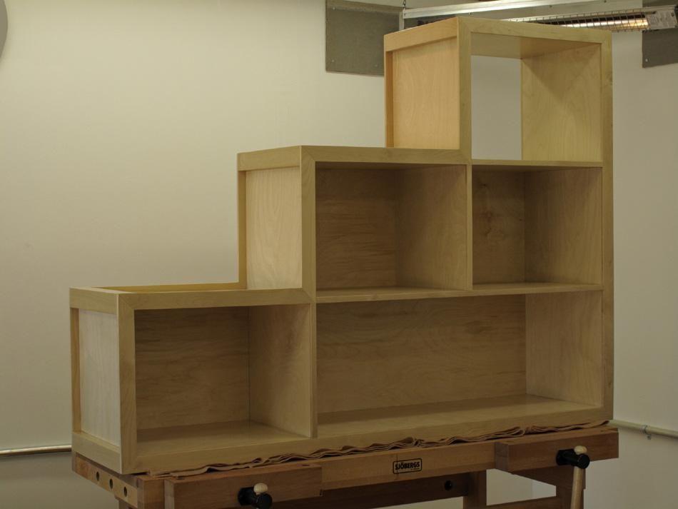 Custom Stepped Bookcase By Koka Bora Creations