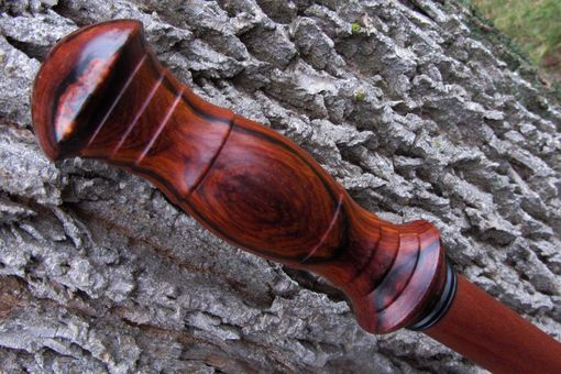 Custom Made Walking Staff - Walking Stick - Cocobolo - Ebony - Brazilian Cherry