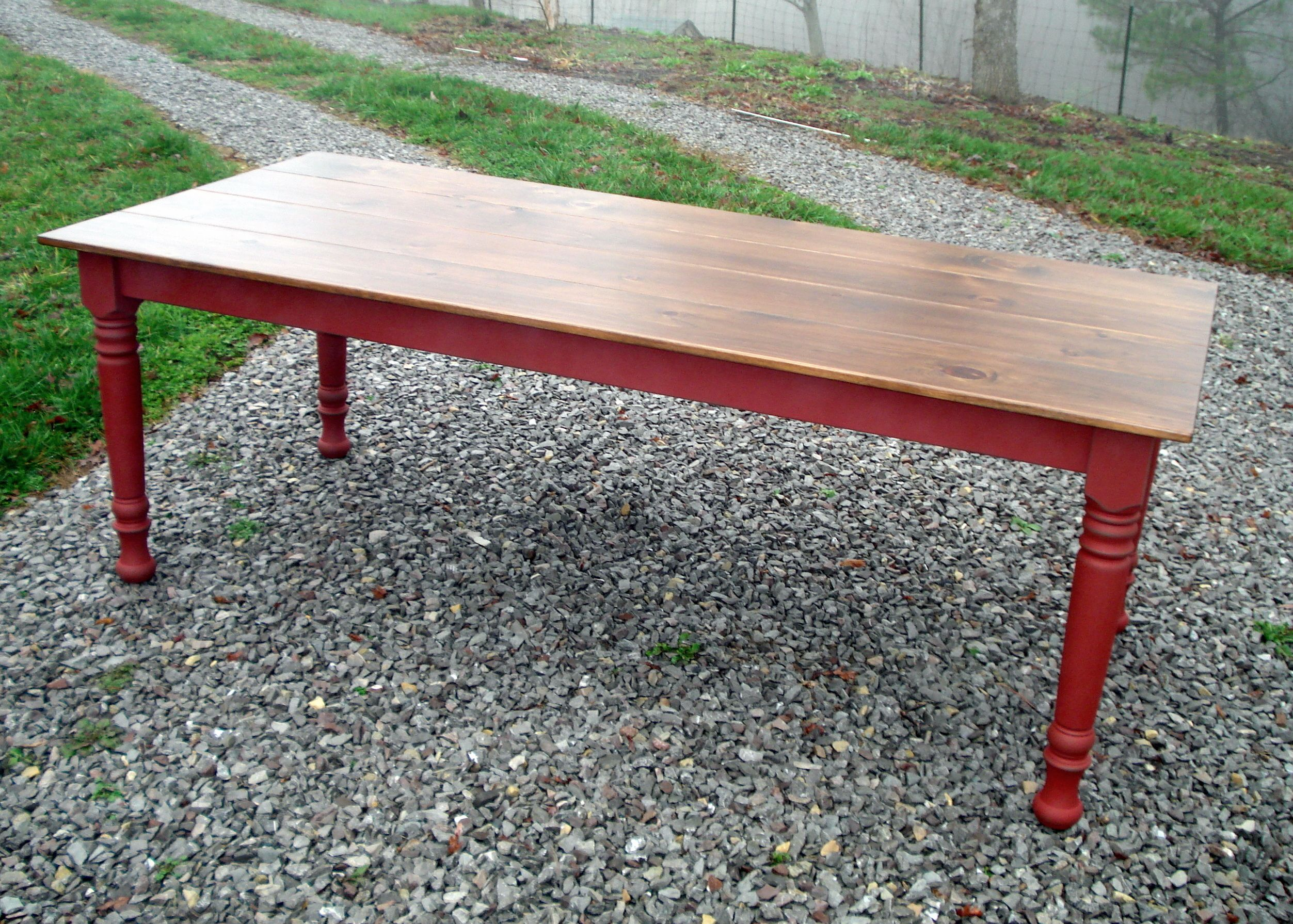 Custom 6 Foot Smooth Top Farm Table By Kountry Kupboards