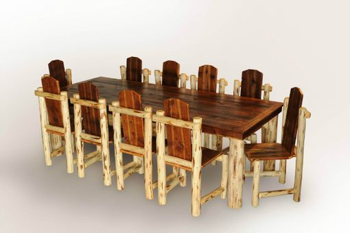 Custom Made Log Dining Set