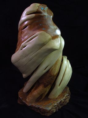 Custom Made Twisted Juniper Display Pedestal For Taxidermy