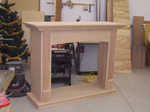 Custom Made Custom Red Oak Mantles