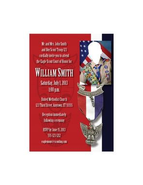 Custom Made Custom Eagle Scout Court Of Honor Invitations