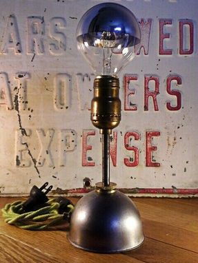 Custom Made Vintage Repurposed Industrial Oiler Lamps