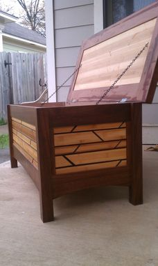 Custom Made Walnut And Bamboo Hope Chest