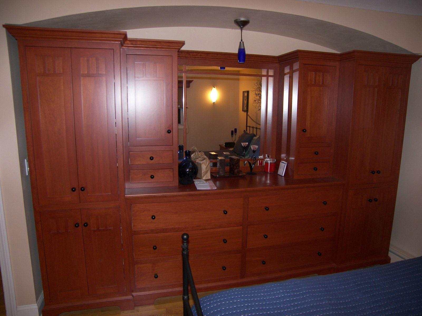 Handmade Cherry Bedroom Dresser Armiour And Nitestands By