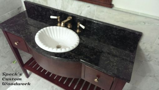 Custom Made Curly Cherry Bowed Front Vanity
