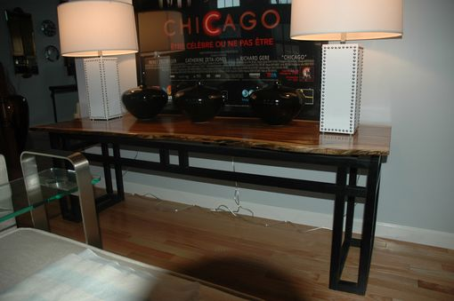 Custom Made Zebrawood Console Table