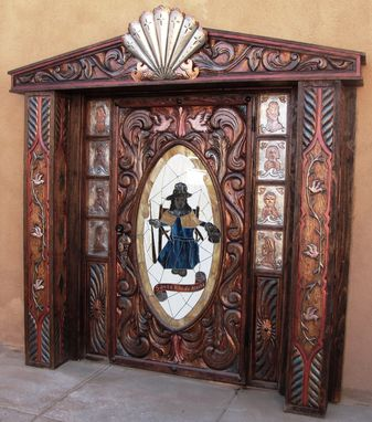 Custom Made Santuario De Chimayo, Santo Nino Chapel Exterior Door