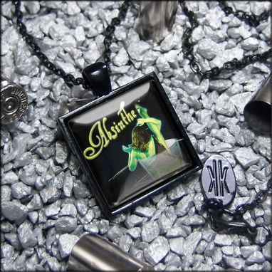 Custom Made Limited Edition Absinthe Green Fairy Black Necklace 275-Jbspn