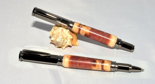 Custom Made Lebanon Cedar Rollerball Pen - Magnetic Cap
