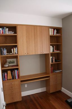 Custom Cherry Bookcase And Desk By Yeager Woodworking Custommade Com