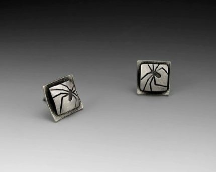 Custom Made Square Spider Post Earrings