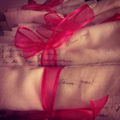 Custom Made Your Grandmother's Recipe In Her Handwriting On A Kitchen Tea Towel