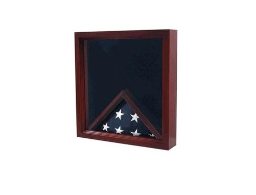 Custom Made Military Flag Display Case,Military Flag And Medal Display Case