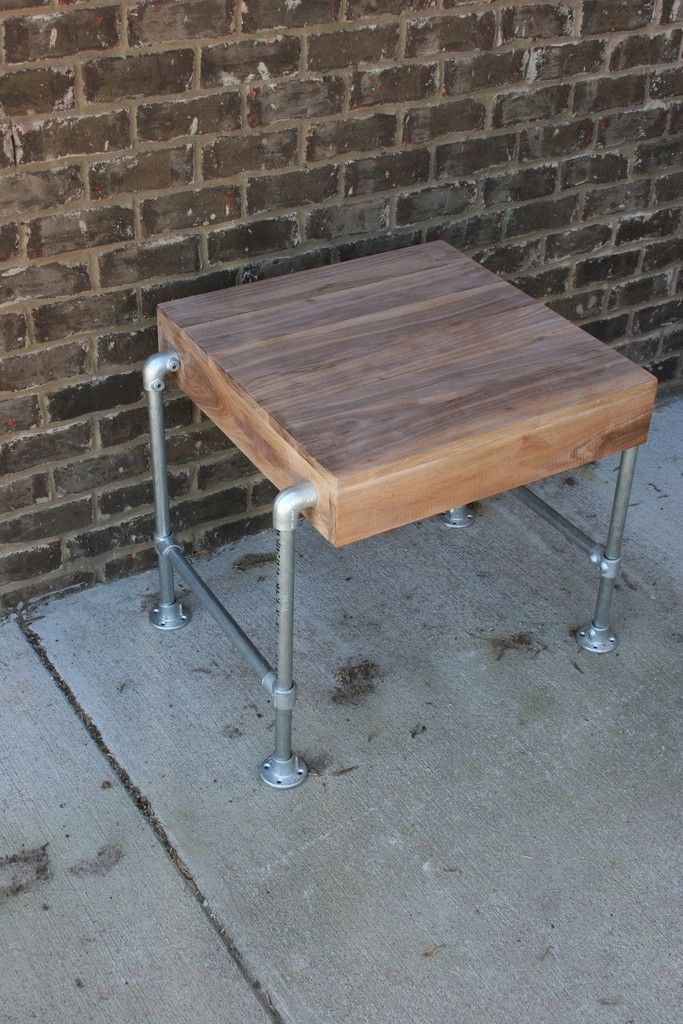 Custom made pipe end table by epic industrial furniture