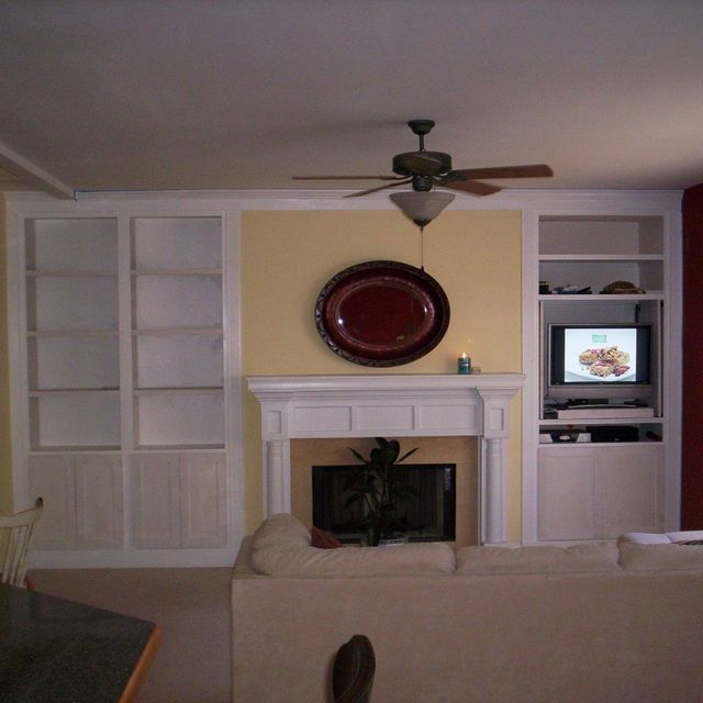 Hand Crafted Living Room Built Ins By Blue Ridge Woodworks Of Virginia Inc