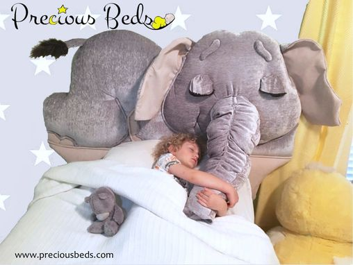 Custom Made Elephant Toddler Bed To Twin Headboard