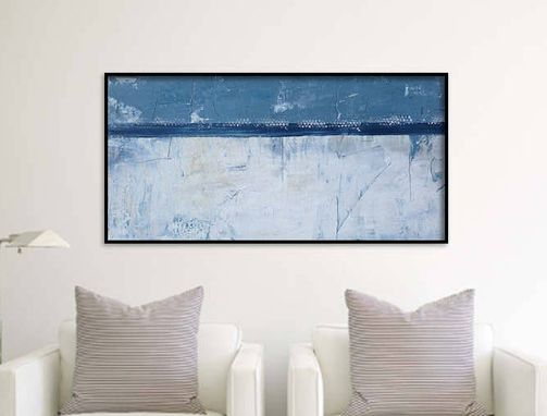 Custom Made 48x24x1.5 Inch Abstract Canvas Art. Abstract Wall Art On Gallery Wrapped Canvas. Abstract Painting