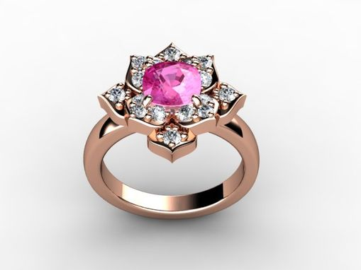 Custom Made Lotus Flower Ring