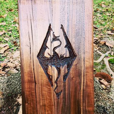 Custom Made Skyrim Logo Wall-Hanging