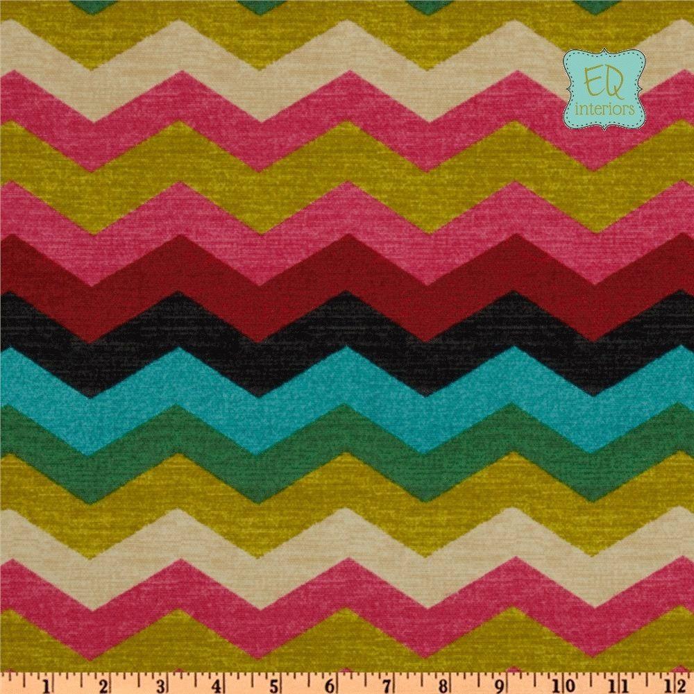 Hand Crafted Designer Curtain Panels Waverly Panama Wave Zig Zag ...