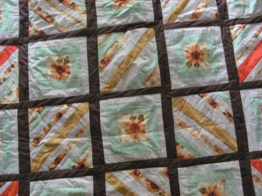 Custom Made Sunflower Quilt