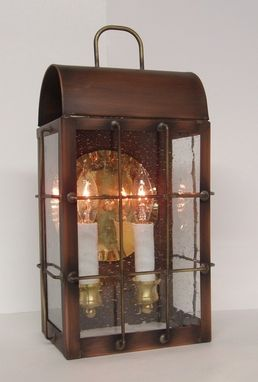Custom Made Outdoor Copper Lantern, Smaller Lexington