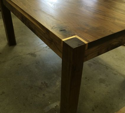Custom Made Black Walnut Dining Table