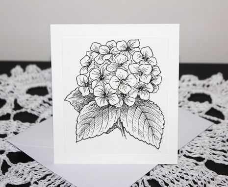 Custom Made Make Your Own Hydrangea Greeting Cards To Sell With These Color Me Cards And Envelopes (10 Cards)