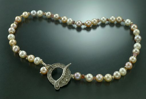 Custom Made Stunning Peacock Pearl Necklace
