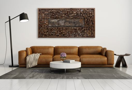 Custom Made Reclaimed Wood Wall Art Of Central Park, New York