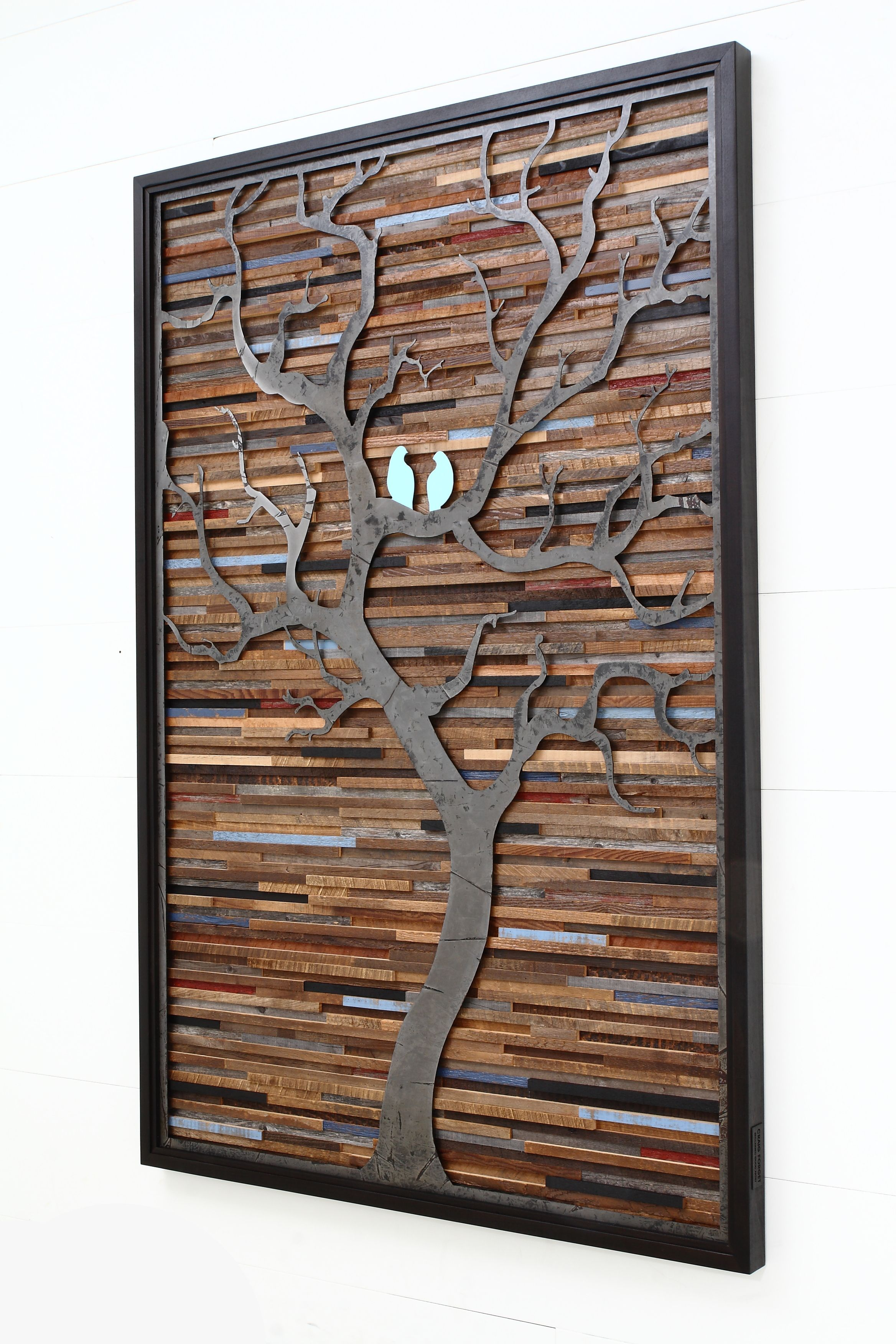 Hand Crafted Wood Wall Art Made Of Old Barnwood And ...