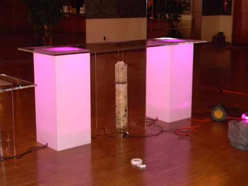 Custom Made Lucite / Acrylic Pillars - Plant Stand - Different Colors, Size Available