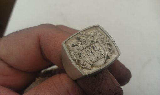 Custom Made Family Crest Rings.