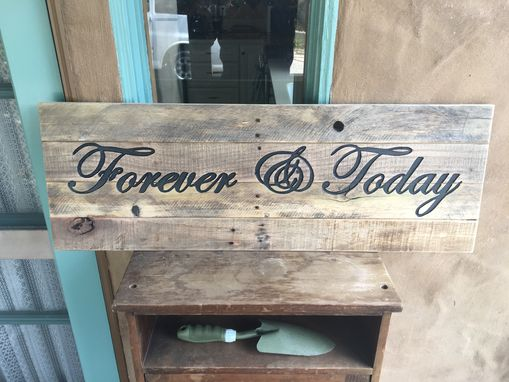 Custom Made Custom Rustic Reclaimed Wood Sign