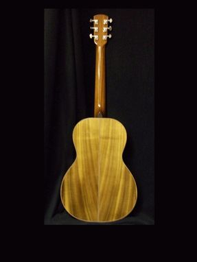 Custom Made Redline Parlor Guitar, Myrtlewood