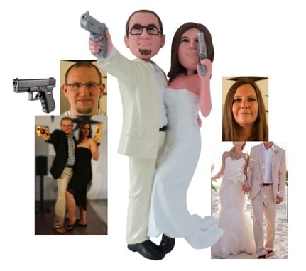Custom Made Cusotm Cake Topper With Guns
