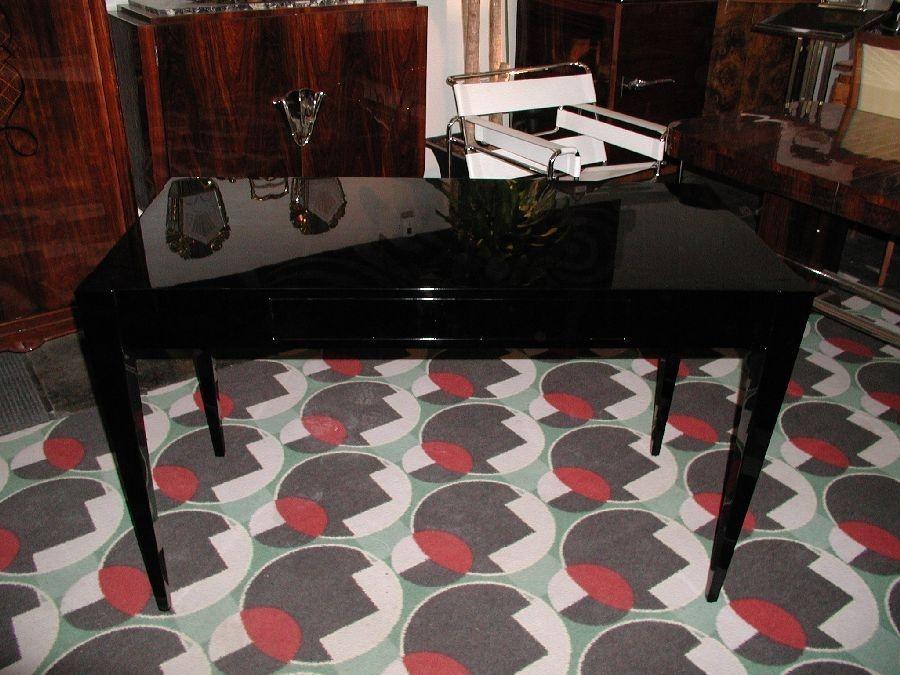 Custom Made High Gloss Piano Black Contemporary Desk