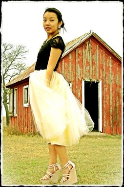 Custom Made Ivory Tulle Skirt