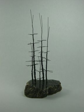 Custom Made Small Forest Wire Bonsai Tree Sculpture