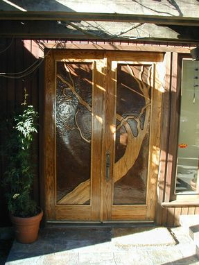 Custom Made Oak And Copper Entry