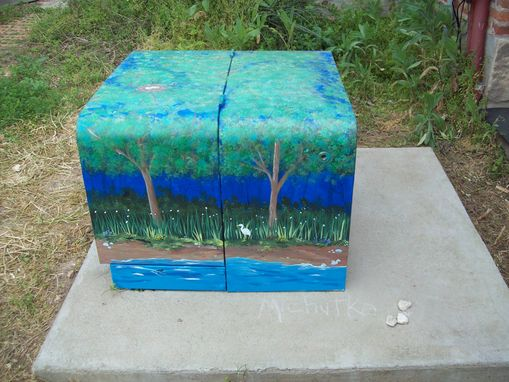 Custom Made Electrical Transformer Box (Usually Owned By A Town Or City)