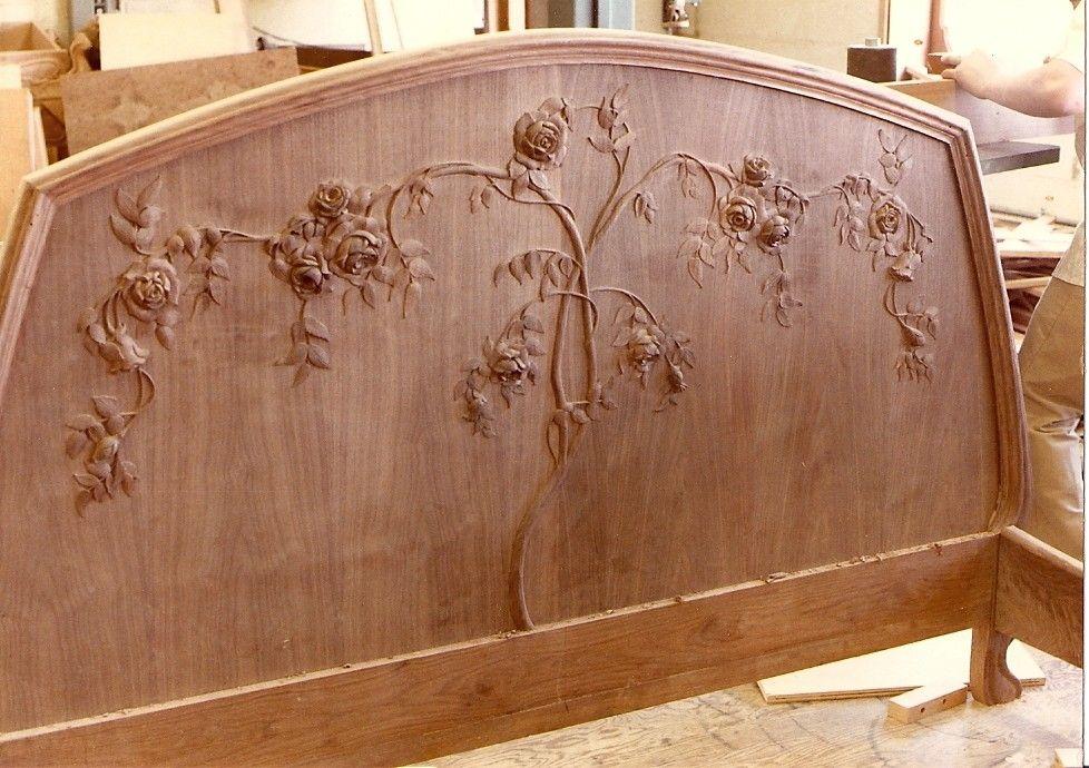 Swell Custom Art Nouveau Mahogany Bed By Hercules Custom Furniture Download Free Architecture Designs Osuribritishbridgeorg