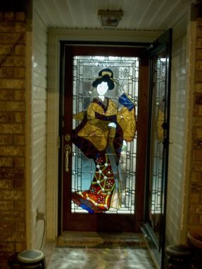 Custom Made Stained Glass Door Panel - Residence