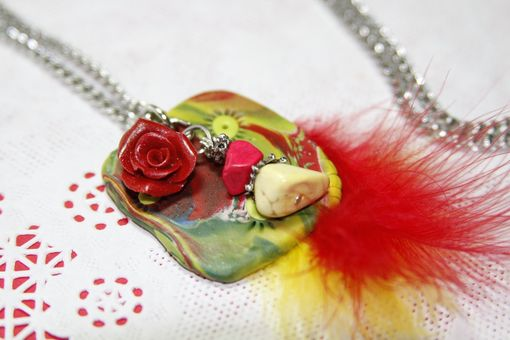 Custom Made Mashia Artist Collection - Passion - Unique Pendant Crafted In Polymer Clay